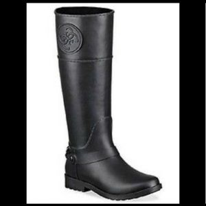 GUESS COUGAR RAINBOOT IN BLACK 11